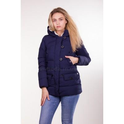 Куртка женская короткая IceBear 6138 темно-синяя