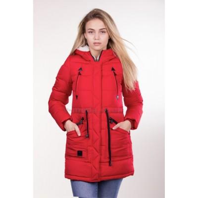Куртка парка женская PureLife IceBear 6229 красная