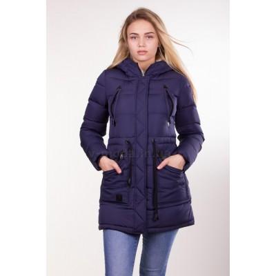 Куртка парка женская PureLife IceBear 6229 темно-синяя