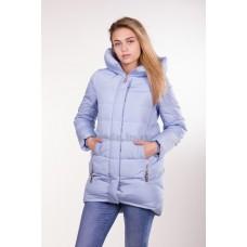 Куртка зимняя женская Lora Duvetti 6036 голубая