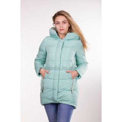 Куртка зимняя женская Lora Duvetti 6036 мята