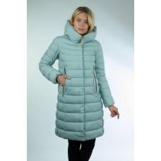 Куртка женская Clasna CW17D-002 мята с шарфом