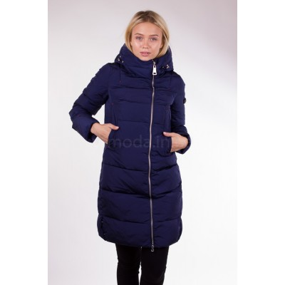 Пальто женское  Clasna CW17D-033 синее