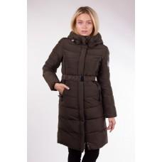 Пальто женское  Clasna CW17D-066 хаки