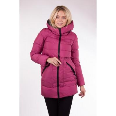 Куртка женская  Clasna CW17D-076 брусничная