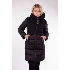 Пальто женское Clasna CW17D-089 чёрное