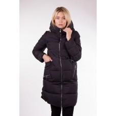 Пальто женское Clasna CW17D-108 чёрное