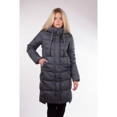 Пальто женское Clasna CW17D-126 зеленый графит