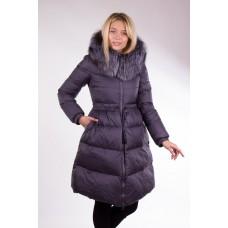 Пальто женское Clasna CW17D-133 с чернобуркой