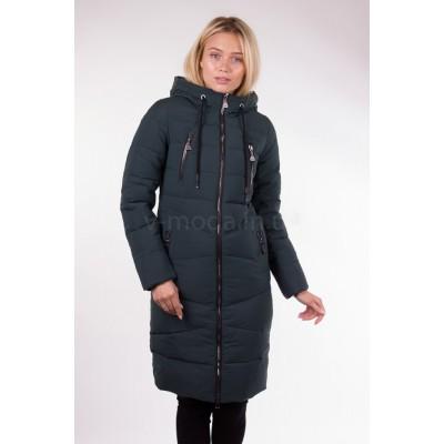 Пальто женское  Fulanxin 17737 изумрудное