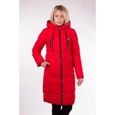 Пальто женское  Fulanxin 17737 красное
