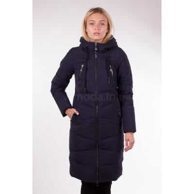 Пальто женское  Fulanxin 17737 темно-синее