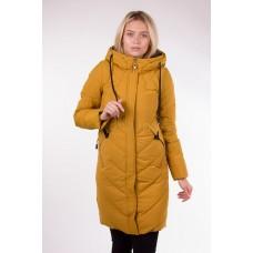 Пальто женское  Fulanxin 17752 горчичное
