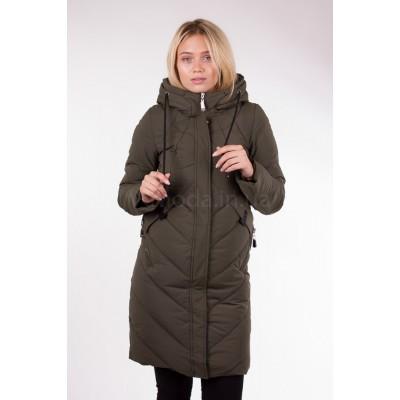 Пальто женское  Fulanxin 17752 изумрудное