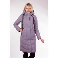 Пальто женское  Fulanxin 17801 светло-серое