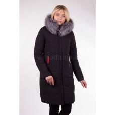 Пальто женское  с чернобуркой Fulanxin 17808 черное