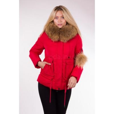 Куртка короткая женская Lora Duvetti 17235 красная