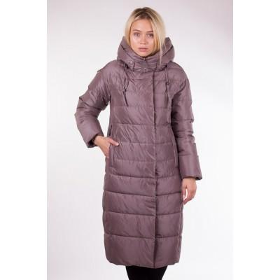 Пальто зимнее женское Lora Duvetti 17605 кофейное