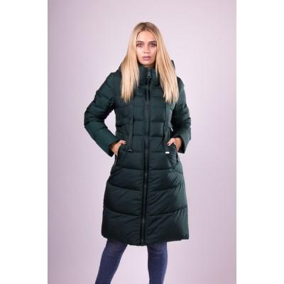 Пальто пуховик женский  Clasna CW18D-726 зеленый
