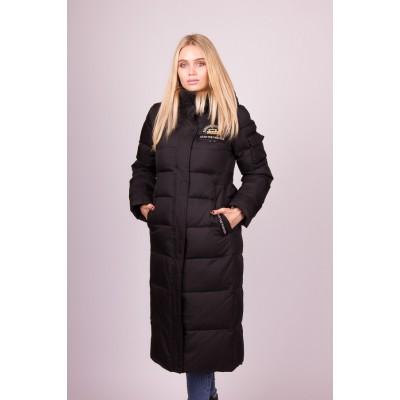 Пальто пуховик женский  Clasna CW19D-129 черный