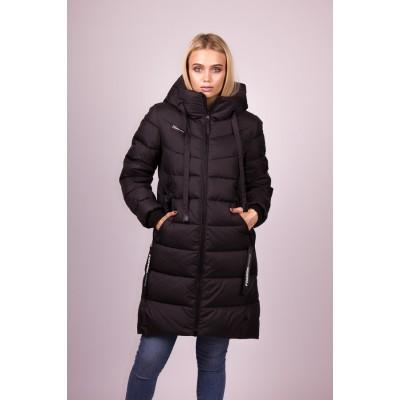 Пальто пуховик женский  Clasna CW19D-308 черный