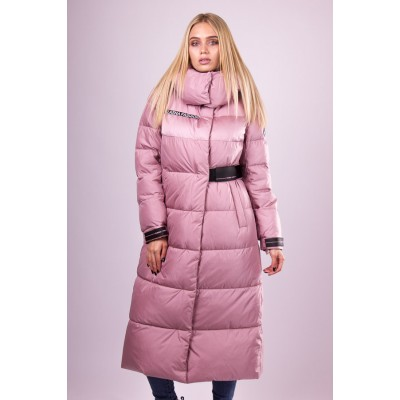 Пальто пуховик женский  Clasna CW19D-328 розовый