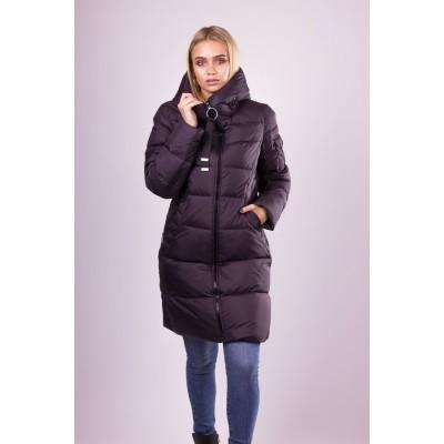 Пальто пуховик женский  Clasna CW19D-507 графит