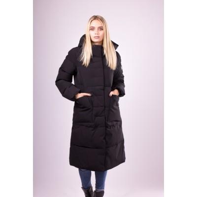 Пальто пуховик женский  Clasna CW19D-533 черный
