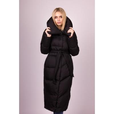 Пальто пуховое женский  Clasna CW19D-556 черный