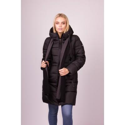 Куртка пуховик женский  Clasna CW19D-807 черный