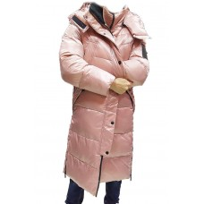 Пуховик женский  Evacana EW-9136 розовый