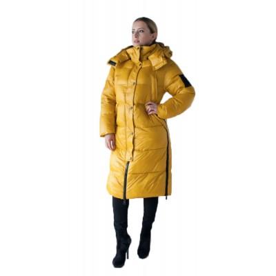 Пуховик женский  Evacana EW-9136 желтый