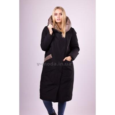 Пальто пуховик женский  Ferenix  A-163 черное