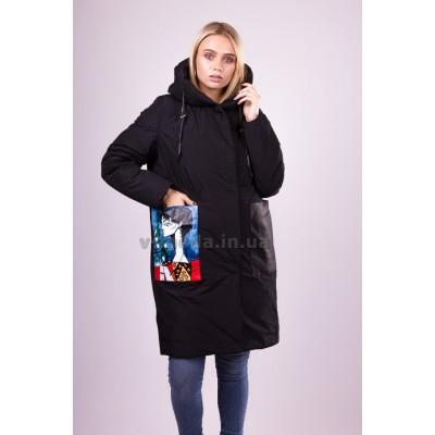 Пальто пуховик женский  Ferenix A-201 черное