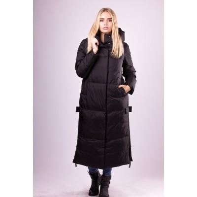 Пальто пуховик женский  Lora Duvetti LD19018 черный