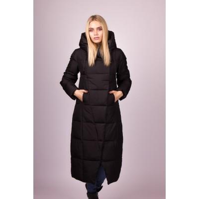 Пальто пуховик женский  Lora Duvetti LD19541 черный