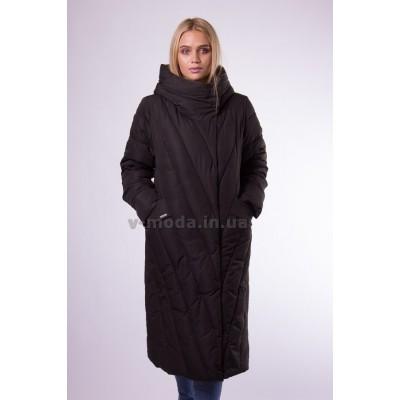 Пальто пуховик женский  Plist PT2018 черное