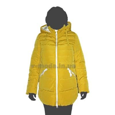 Куртка женская CLASNA 14D-119 желтая