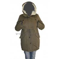 Куртка женская (парка) Clasna CW14D-247 зеленая