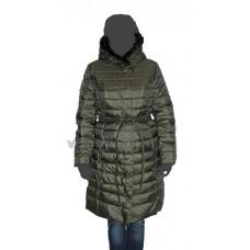 Пальто женское Clasna CW14D-365 зеленое