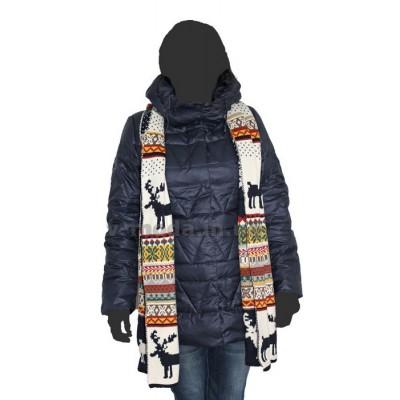 Куртка женская пуховая CLASNA 14D-389 синяя