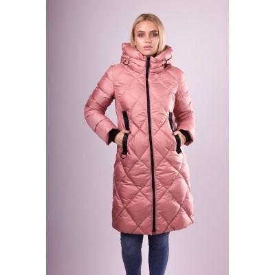 Пальто пуховик женский  CW18D-713 розовый