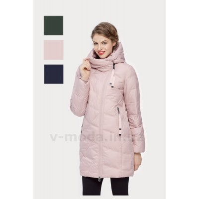 Куртка зимняя женская Lora Duvetti 17006 розовая