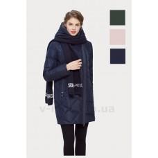 Куртка зимняя женская Lora Duvetti 17006 темно-синяя