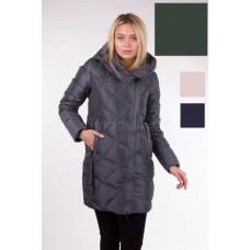 Куртка зимняя женская Lora Duvetti 17006 изумрудная