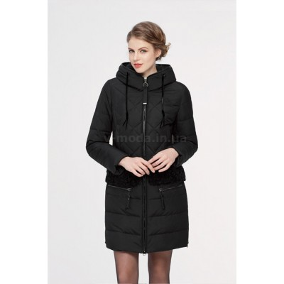 Куртка зимняя женская Lora Duvetti 18188 черная