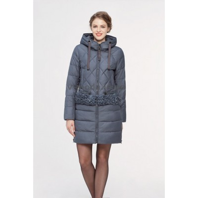 Куртка зимняя женская Lora Duvetti 18188 графит
