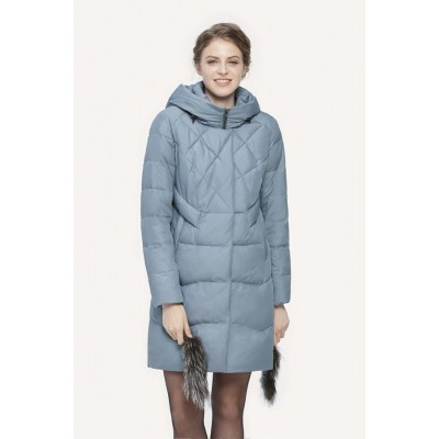 Куртка зимняя женская Lora Duvetti 18363  голубая