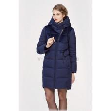 Куртка зимняя женская Lora Duvetti 18353 синяя комбинированная