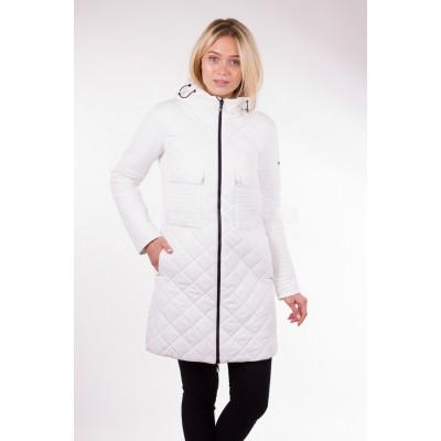Пальто демисезонное женское Misun-G305 белое
